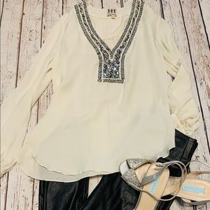 Anthropologie Haute Hippie sequined blouse